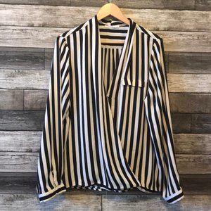 Ricki's Women's Black White Stripe Blouse